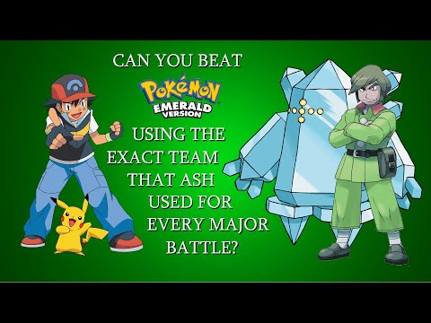 Can You Beat Pokémon Emerald Using the Exact Team That Ash Used For Every Major Battle?