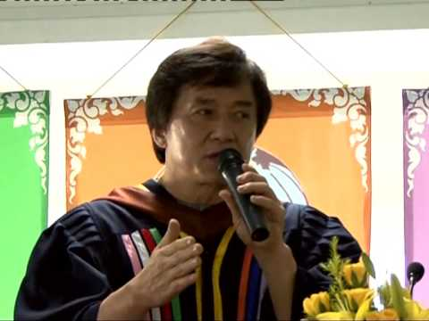 Jackie Chan's speech at the University of Cambodia, with an introduction by Uwe Morawetz