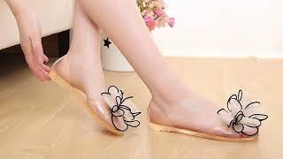 New Arrivals bowtie fashion Summer sandals Women Fish head flat sandals.mp4