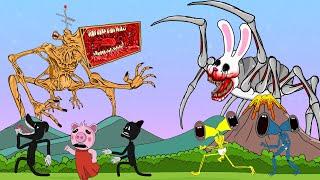 Mege Siren Head Vs Mr. Hopp's Make Noise | Roblox Piggy Animation | GV Studio