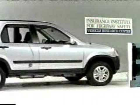 Crash test 2002 2006 honda cr v angle barrier test iihs for Iihs honda crv