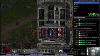 Diablo 2 LoD any% HC RTA Speedrun Necromancer 2:14:20