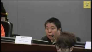 2015-02-24 香港紅十字會甘迺迪中心校友會梁文泰 就殘疾人士的貧窮情況 發言