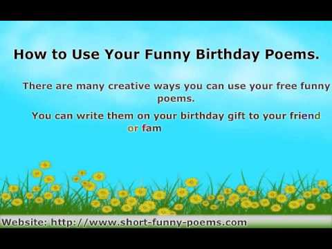 How to Find Funny Birthday Poems For Friends and Family