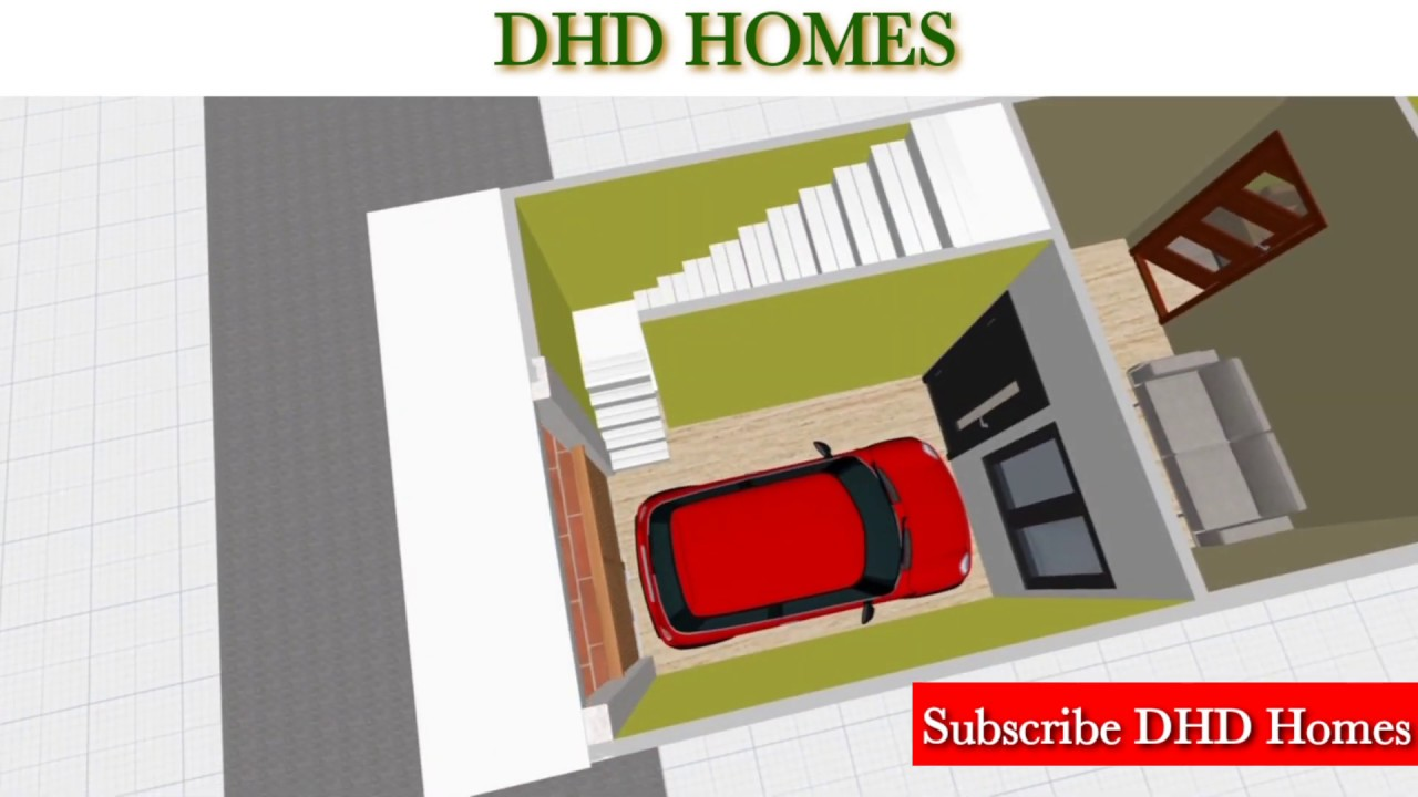 12 by 50 house design || 12 x 50 home plan with car parking || L50 B12 || 600 Sq. ft.