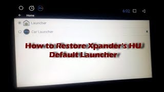 How to restore carwebguru default launcher