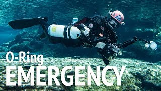 How to Handle Real O-Ring Failure Emergency While Sidemount Cave Diving