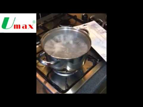 Umax energy saving heating additive - demonstration effects on boiling water