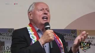 STOPP RAMSTEIN Oskar Lafontaine - Weg mit dem Drohnenkrieg in Ramstein!