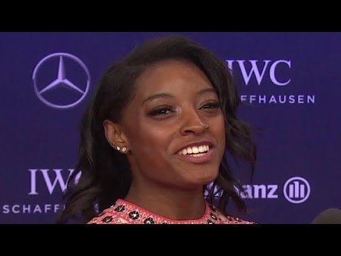 Simone Biles rules at the Laureus Awards