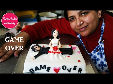 wedding-cakes:funny-3d-fondant-wedding-or-anniversary-cake-toppers-design-making-videos