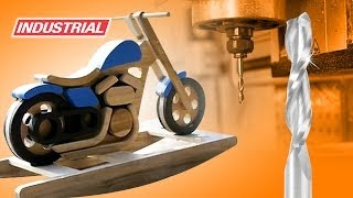 Rocking Horse Motorcycle Cnc Project Using Ball Nose And Plunge Solid Carbide Bits By Amana Tool