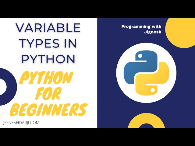 Variable Types in Python | Learn Python | Python for Beginners