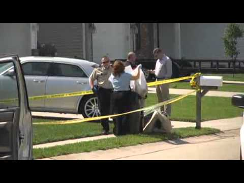 Triple Murder Coleman family scene Columbia Illinois May 2009
