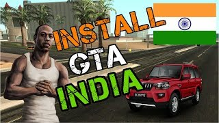 How to install 🇮🇳 GTA India Mod in GTA San Andreas Tutorial ||Hindi/Urdu||