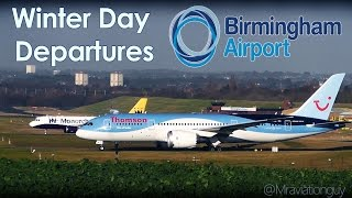 Winter Holiday Departures - Birmingham Airport - Thomas Cook, Monarch, Thomson 787 A321 A320 (+ATC)