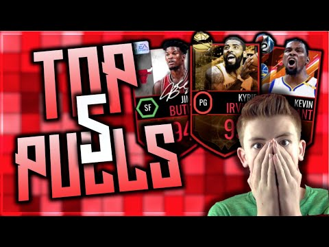 MY TOP 5 PACK OPENINGS EVER! YOURFIRED'S G.O.A.T. PULLS! NBA LIVE MOBILE 16   700th VIDEO SPECIAL!
