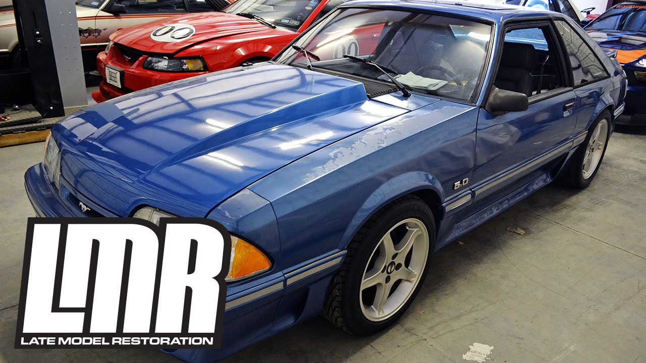 Fox body mustang restoration project blue collar introduction 5 0resto youtube