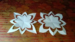 how to make paper flowers. paper craft. paper flower. cutting paper flower. DIY easy paper craft
