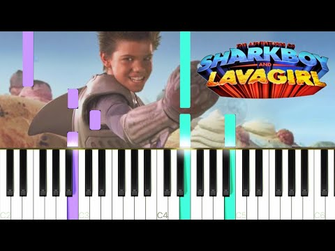 [The Adventures of Sharkboy and Lavagirl] Dream - Robert Rodriguez || Synthesia Piano Tutorial