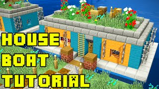 Minecraft: Survival House Boat in Amsterdam Tutorial Xbox/PE/PC/PS3/PS4