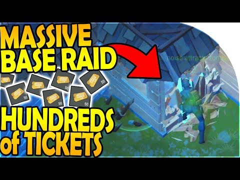 HUNDREDS OF TICKETS, MASSIVE BASE RAIDING - Last Day On Earth Survival Update 1.8.1