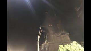 新莊工地大樓大火控制火勢 消防局出動空拍機勘查火場