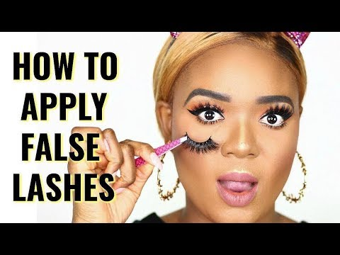 DETAILED, STEP BY STEP TUTORIAL ON HOW TO APPLY FALSE EYELASHES FOR BEGINNERS | OMABELLETV