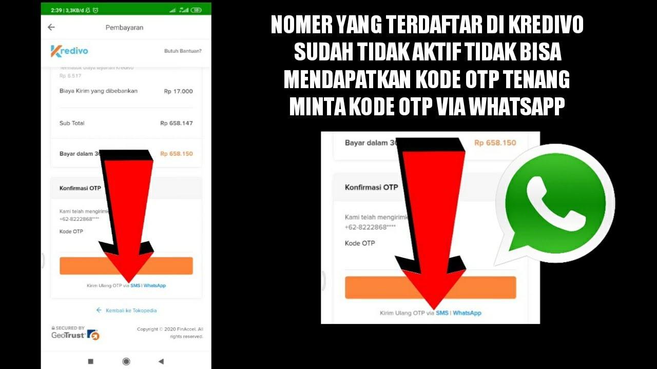 cara mendapatkan kode otp kredivo lewat whatsapp