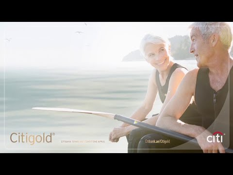 Citigold. Retirement on your terms.