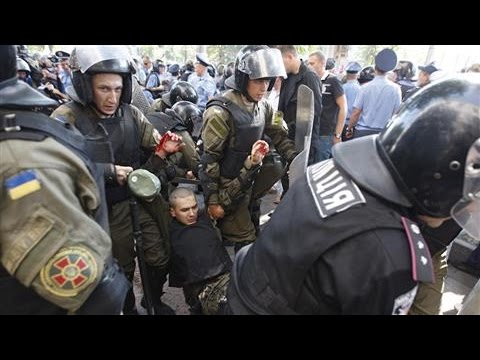 Ukraine Protest Blast Kills Officer, Injures Dozens
