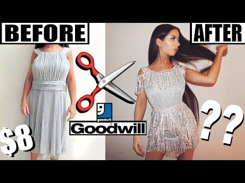 DIY THRIFT STORE PARTY DRESS MAKEOVER!