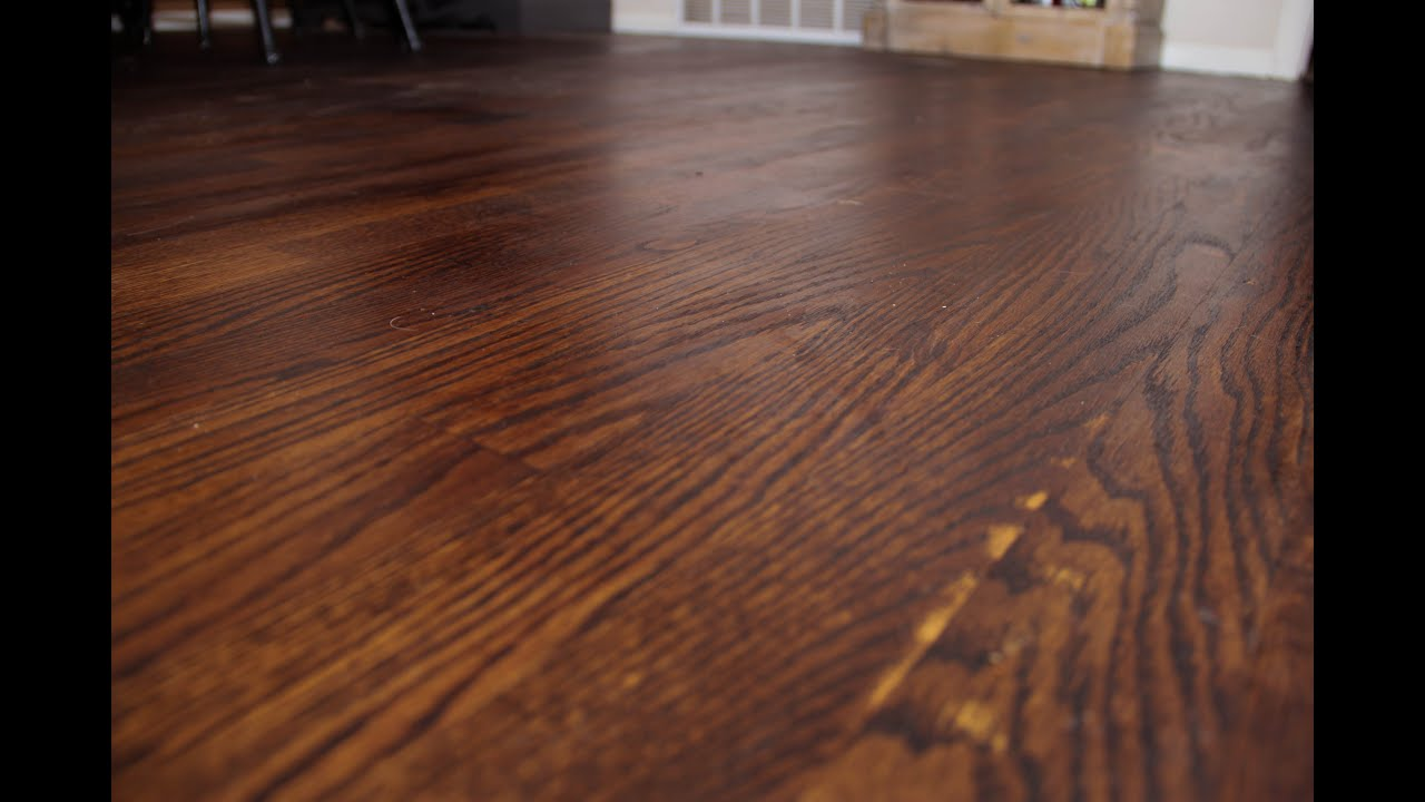 Staining Wood Floors Youtube