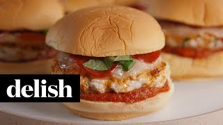 Chicken Pizza Burgers | Delish + Ragu