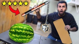 I Bought The BEST Rated WEAPONS On Amazon!!!! (5 STAR)