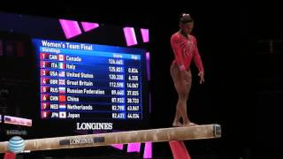 Simone Biles - Balance Beam - 2015 World Championships - Team Final