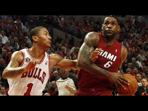 Download LeBron James vs Derrick Rose MVP's Duel 2011.03.06 - LBJ With 26, Rose With 27 Pts, NASTY Moves!