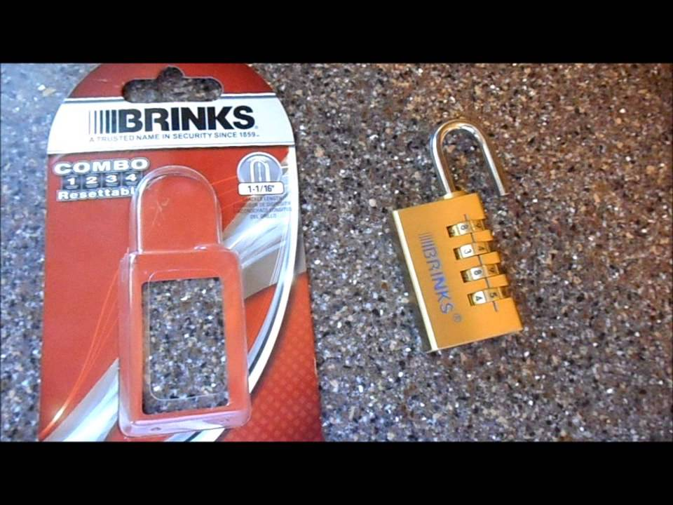Brinks Combo Lock Review Youtube