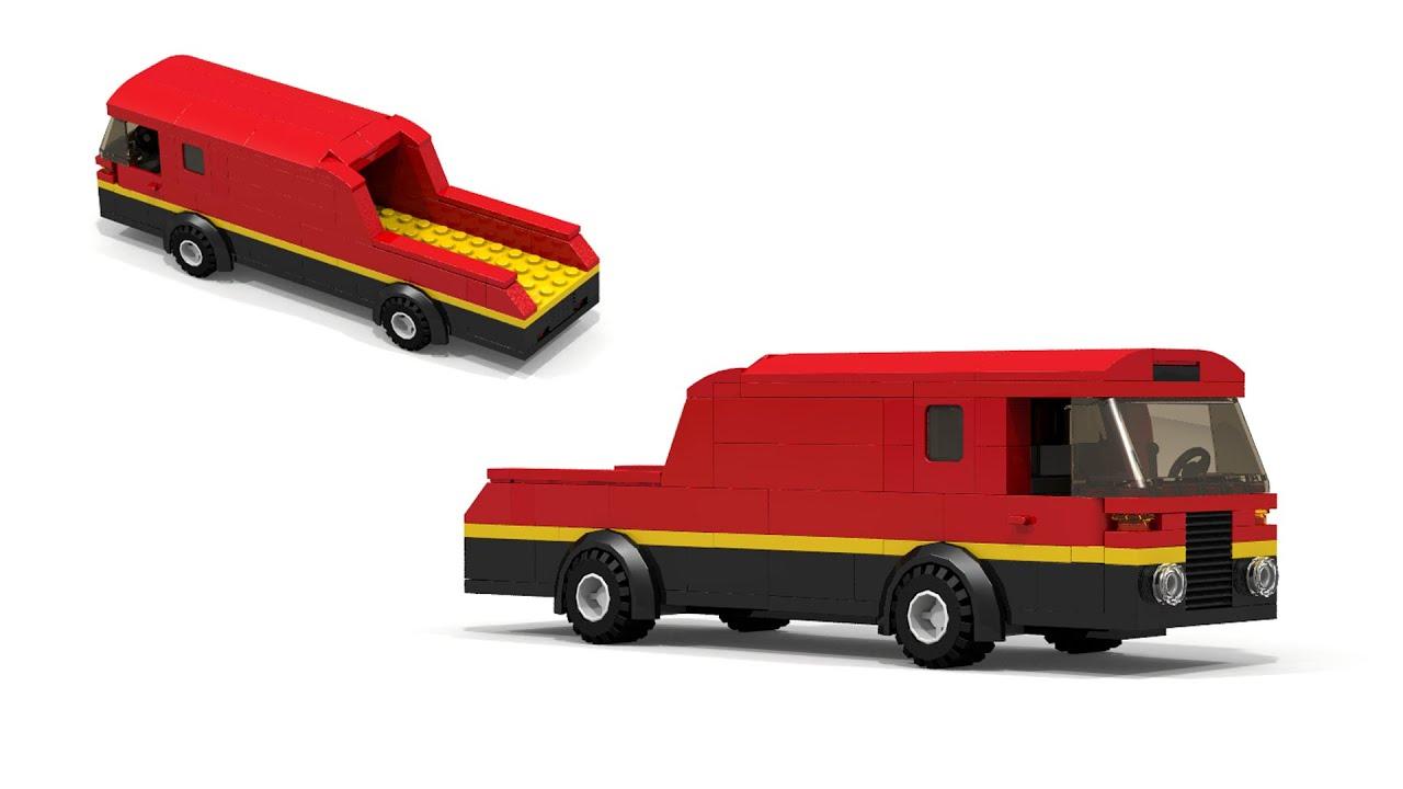 Vintage LEGO Race Car Transporter Tutorial - YouTube