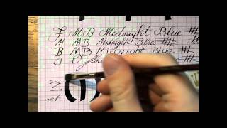 Inkcyclopedia: Montblanc Midnight Blue
