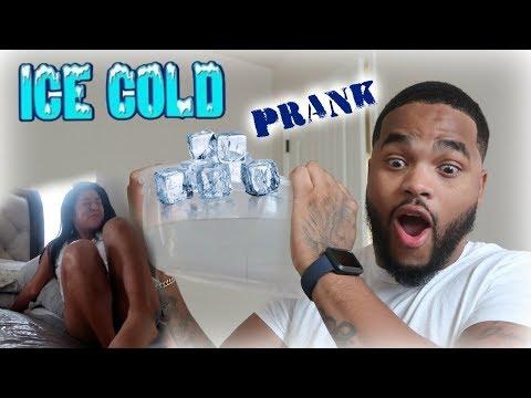 ICE COLD WATER PRANK ON SLEEPING GIRLFRIEND!! || The Life Of K&K