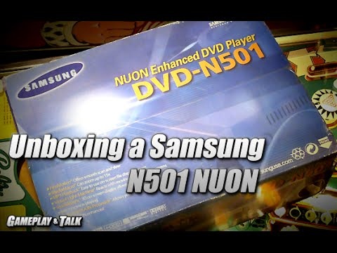 Unboxing a NIB Samsung N501 NUON player/console
