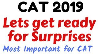Cat 2019  Letand39s Get Ready For Surprises  D Day Strategy  30days Pledge