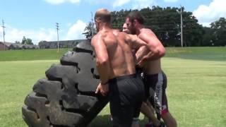 Rich Froning, Ben Smith, Matt Hewett, & Todd Strong - Flip a Tire