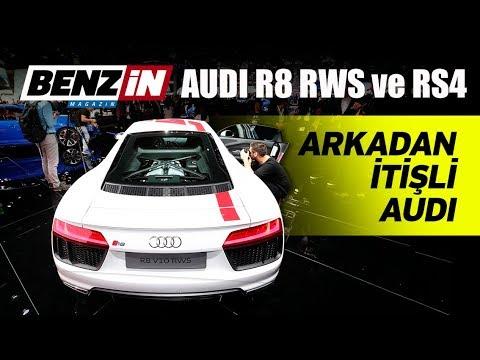 Audi R8 RWS ve RS4 - Frankfurt Otomobil Fuarı 2017