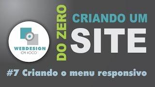 Criando um site do zero - #7 Criando o menu responsivo