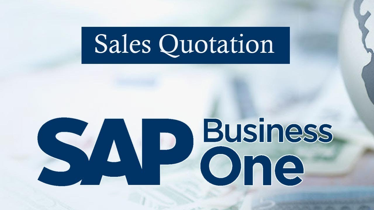 Sap business one sales quotation in sap business youtube sap business one sales quotation in sap business malvernweather Gallery