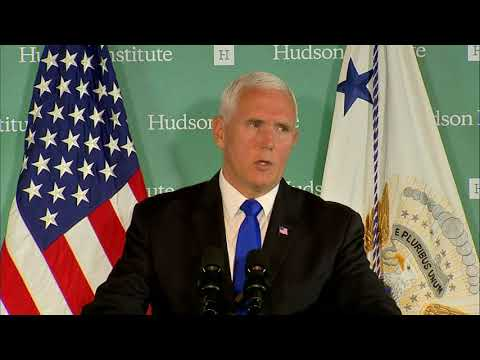 Pence launches broadside against China's meddling