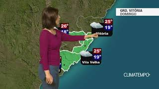 Previsão Grande Vitória – Garoa e temperaturas amenas