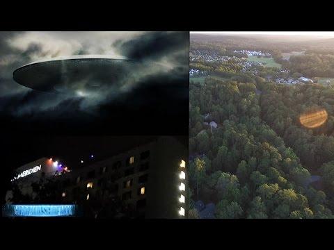 Massive 'UFO-Cloaked' La Meridian Hotel in Charlotte NC!! Biological UFO Drone? 2016
